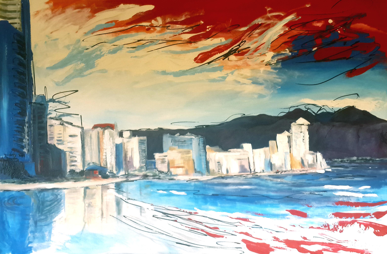 msa,Strand beach,2016,acrylic on canvas,1500x1000mm,R8000