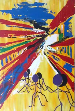 msa,dance with me,2015,acrylic on canvas,600x400mm,R2500