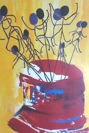 msa,escape study 2, 2015,acrylic on canvas, 600x400mm,R2500