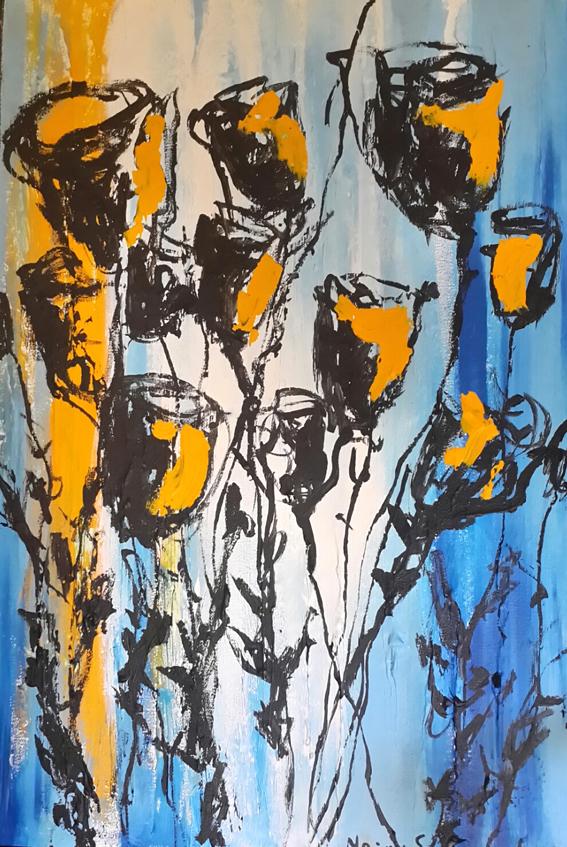 msa,tulips,2015,acrylic on canvas,600x400mm,R2000