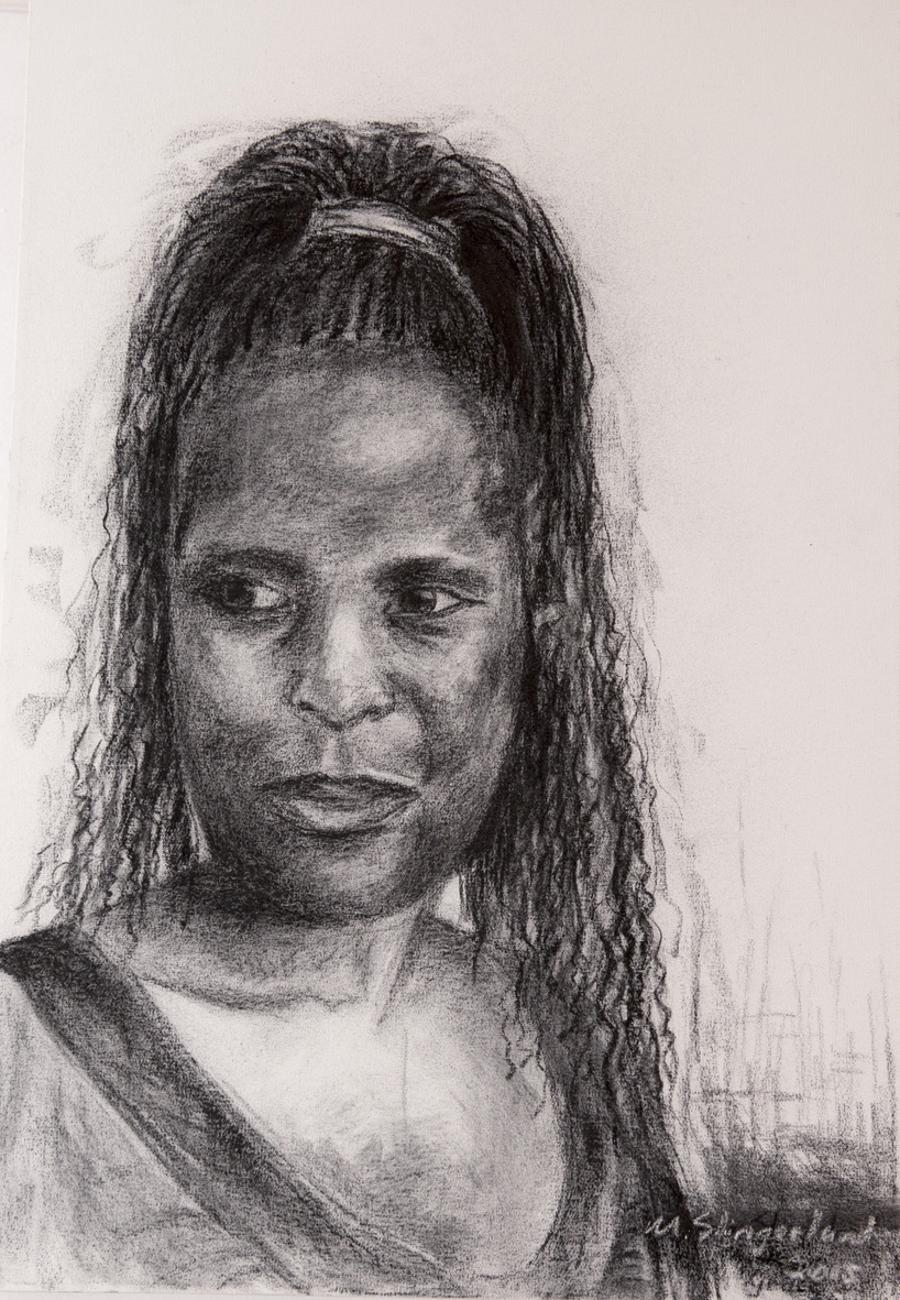 msc,grace,2015,charcoal on canvas,900x600mm,R4000