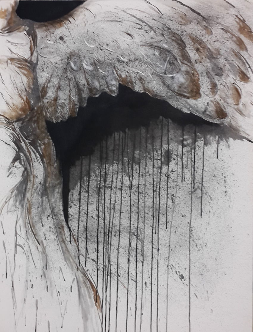 msmm,falling angel,2016,ink and acrylic on canvas,1200x1000mm,R5000
